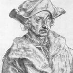 Sebastian Brant auf einer Zeichnung von Albrecht Dürer