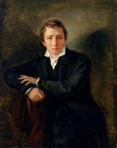 Heinrich Heine auf einem Gemälde von Moritz Daniel Oppenheim aus dem Jahr 1831