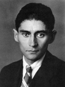 Porträt von Franz Kafka.