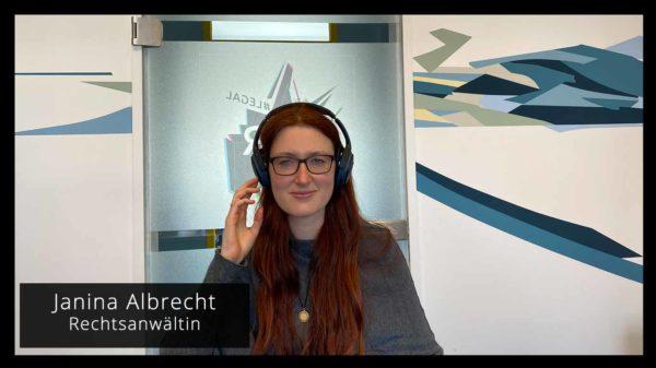 Janina Albrecht Rechtsanwältin Videocall KTR.legal