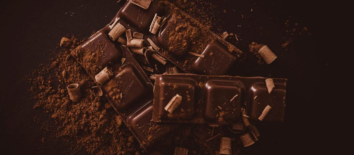 Formmarke: gebrochene Schokoladentafel